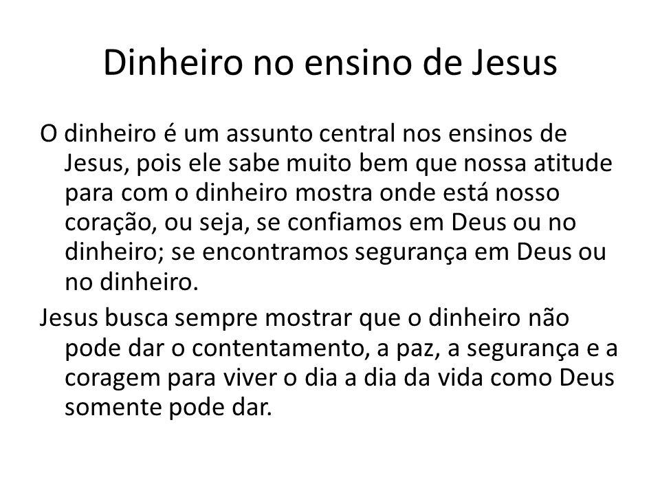 Dinheiro no ensino de Jesus