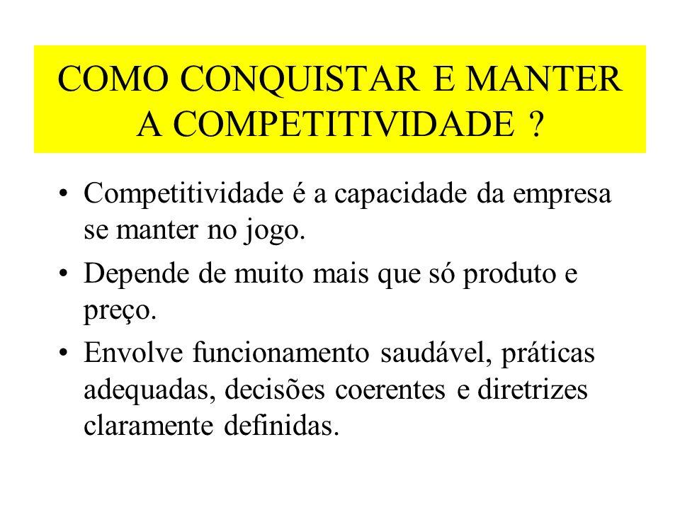 COMO CONQUISTAR E MANTER A COMPETITIVIDADE