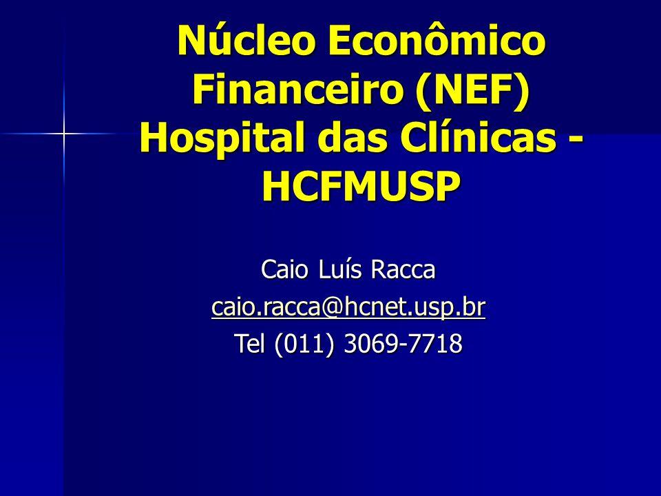 Núcleo Econômico Financeiro (NEF) Hospital das Clínicas - HCFMUSP
