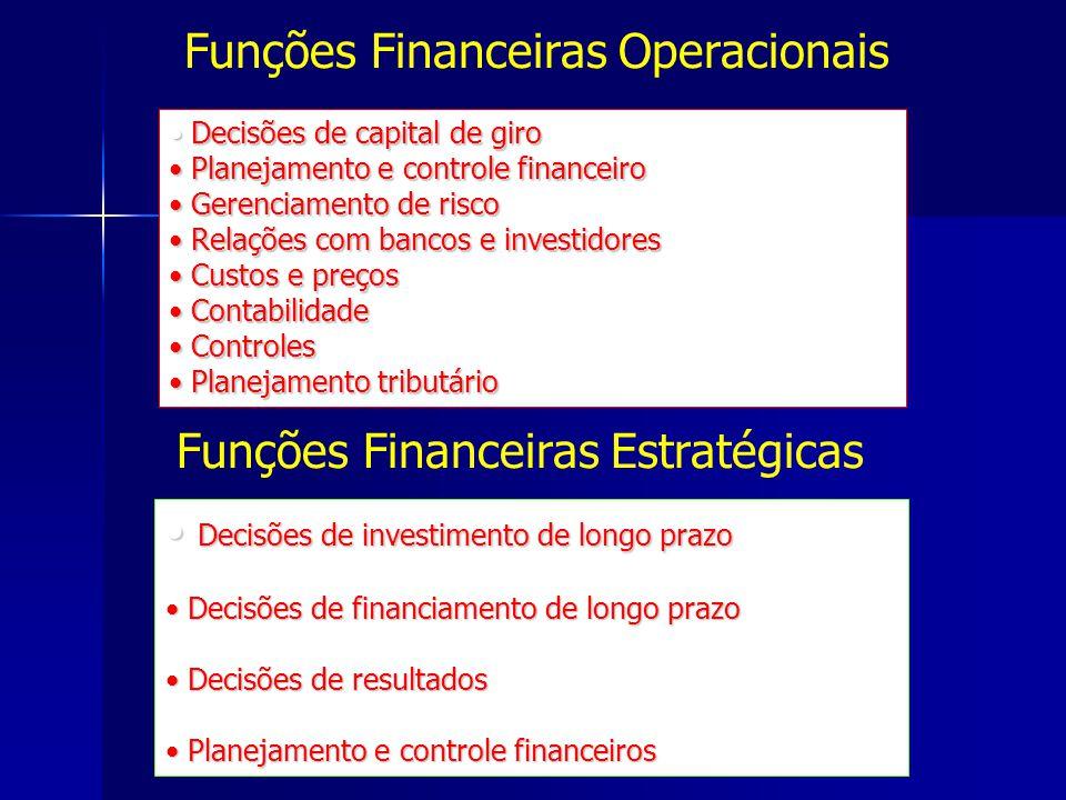 Funções Financeiras Operacionais