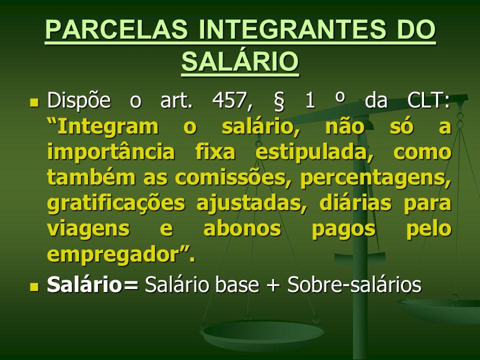 PARCELAS INTEGRANTES DO SALÁRIO