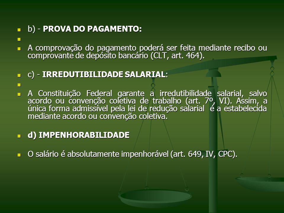 b) - PROVA DO PAGAMENTO: