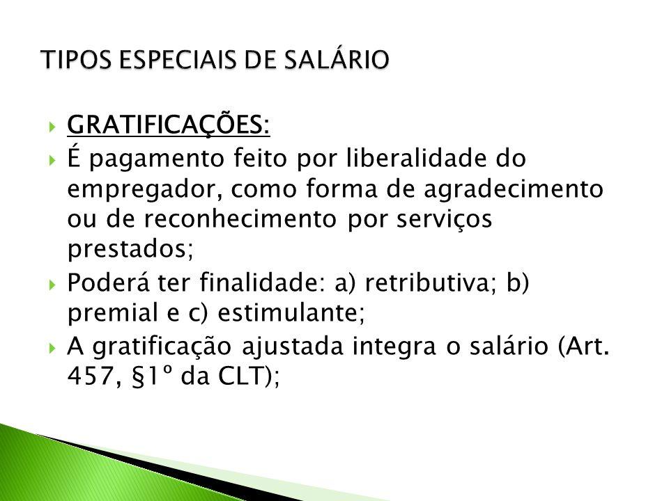 TIPOS ESPECIAIS DE SALÁRIO