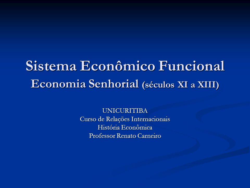 Sistema Econômico Funcional Economia Senhorial (séculos XI a XIII)