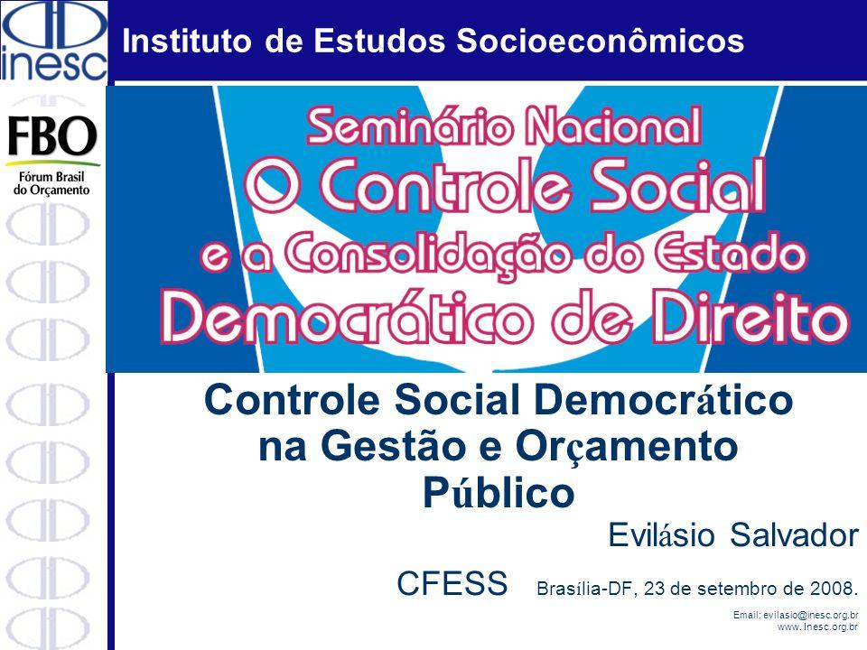 Controle Social Democrático na Gestão e Orçamento Público