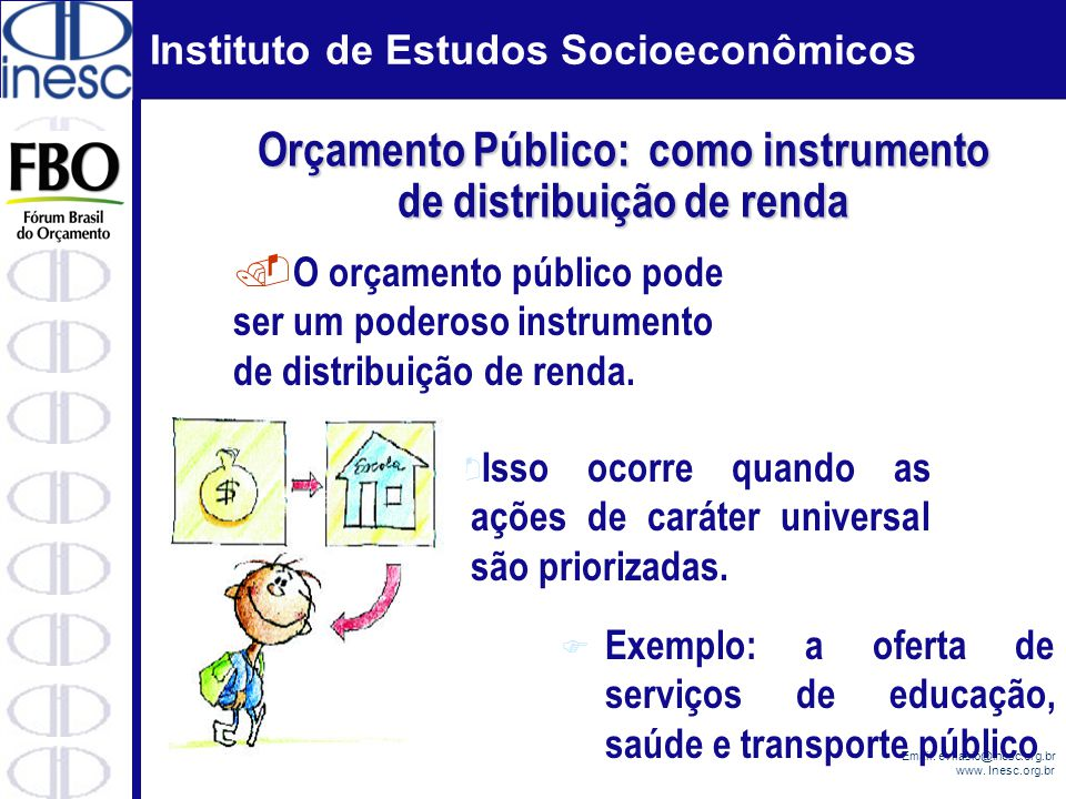 Orçamento Público: como instrumento de distribuição de renda