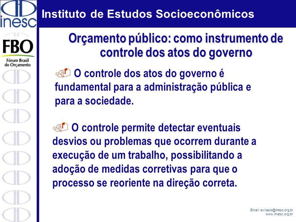 Orçamento público: como instrumento de controle dos atos do governo