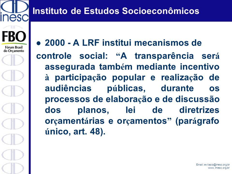 2000 - A LRF institui mecanismos de