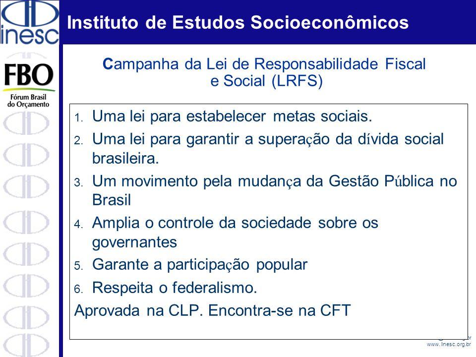 Campanha da Lei de Responsabilidade Fiscal e Social (LRFS)