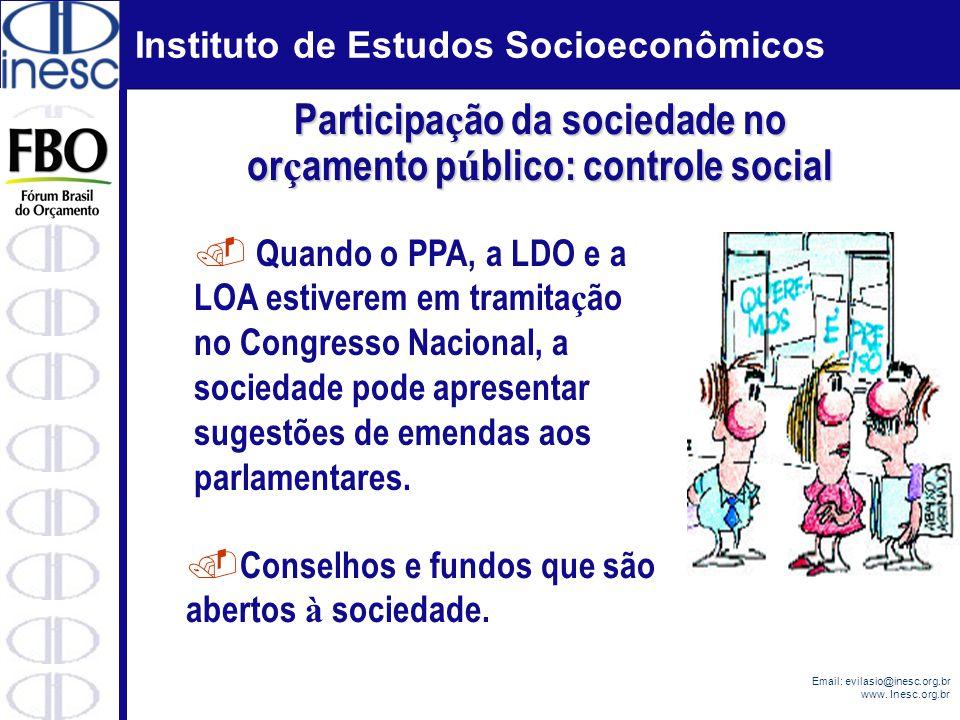 Participação da sociedade no orçamento público: controle social