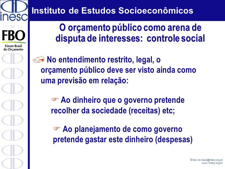 O orçamento público como arena de disputa de interesses: controle social