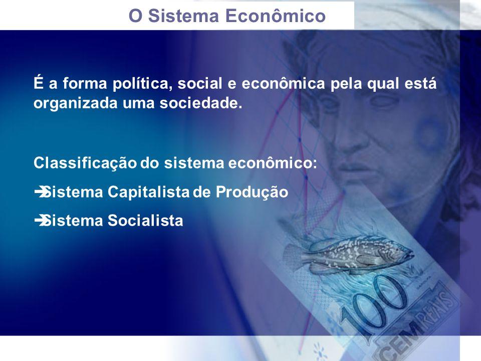 O Sistema Econômico É a forma política, social e econômica pela qual está organizada uma sociedade.