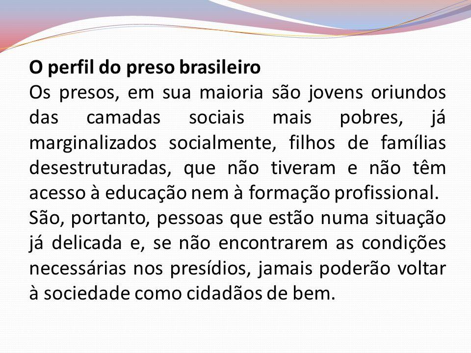 O perfil do preso brasileiro
