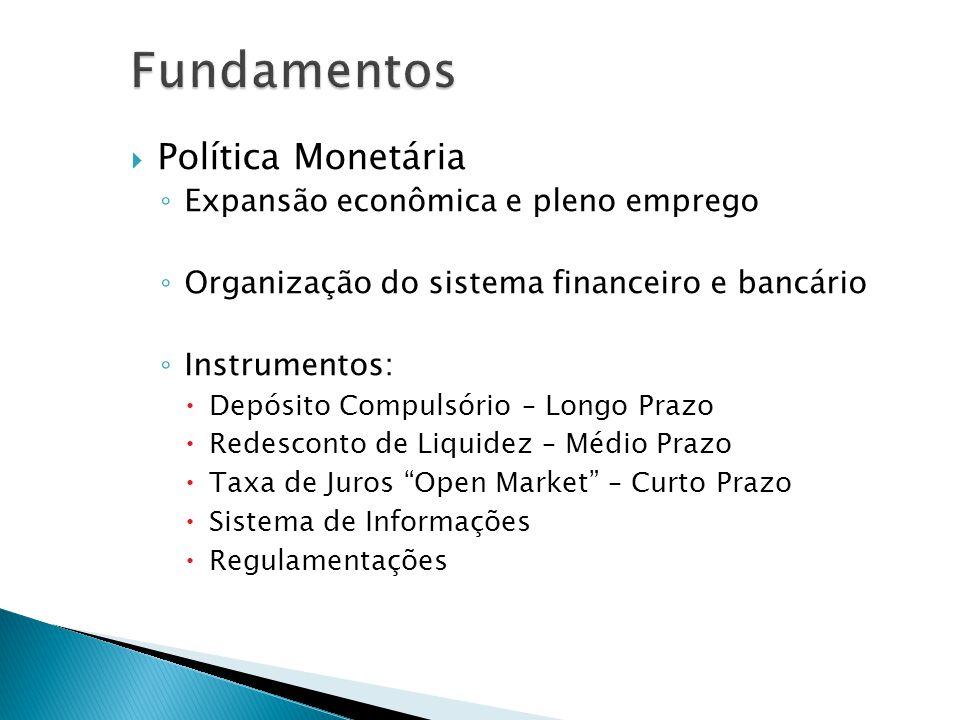 Fundamentos Política Monetária Expansão econômica e pleno emprego