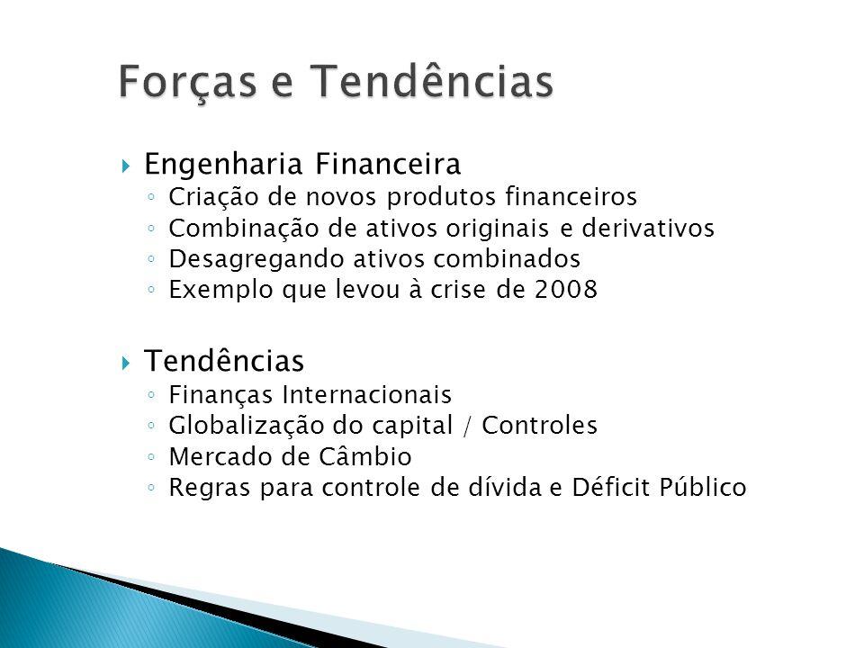 Forças e Tendências Engenharia Financeira Tendências