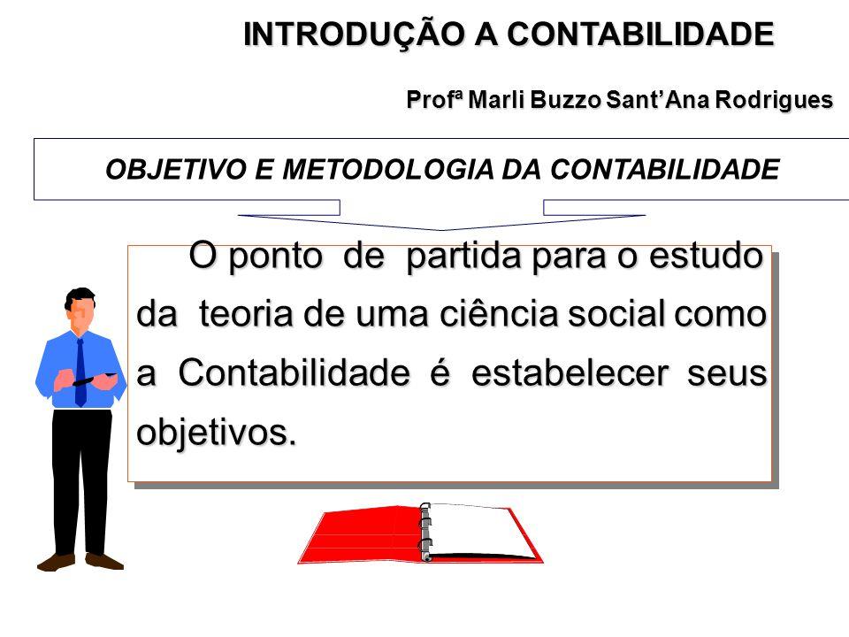 INTRODUÇÃO A CONTABILIDADE OBJETIVO E METODOLOGIA DA CONTABILIDADE
