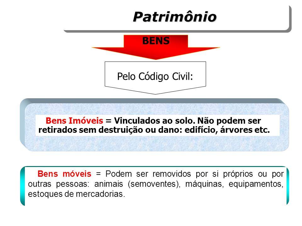 Patrimônio BENS Pelo Código Civil: