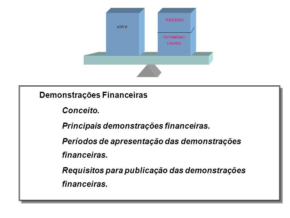 Demonstrações Financeiras Conceito.