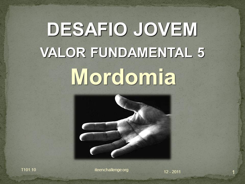 Mordomia DESAFIO JOVEM VALOR FUNDAMENTAL 5 T101.10 iteenchallenge.org