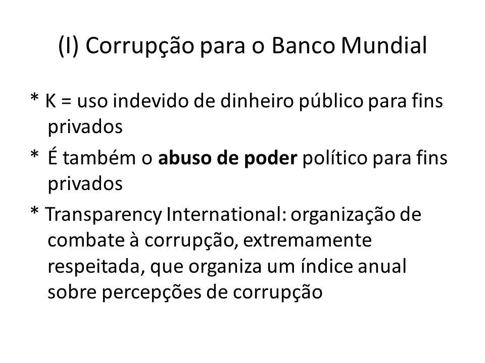 (I) Corrupção para o Banco Mundial