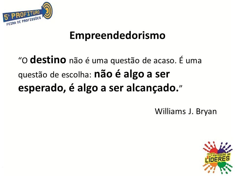 Empreendedorismo O destino não é uma questão de acaso. É uma questão de escolha: não é algo a ser esperado, é algo a ser alcançado.