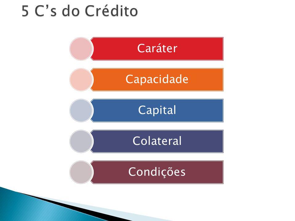 5 C's do Crédito Caráter Capacidade Capital Colateral Condições