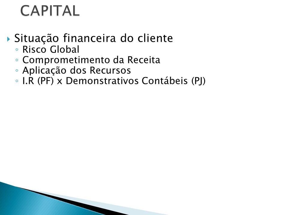 CAPITAL Situação financeira do cliente Risco Global
