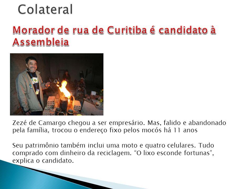 Colateral Morador de rua de Curitiba é candidato à Assembleia