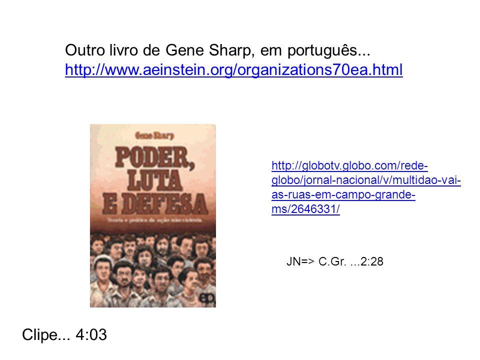 Outro livro de Gene Sharp, em português...