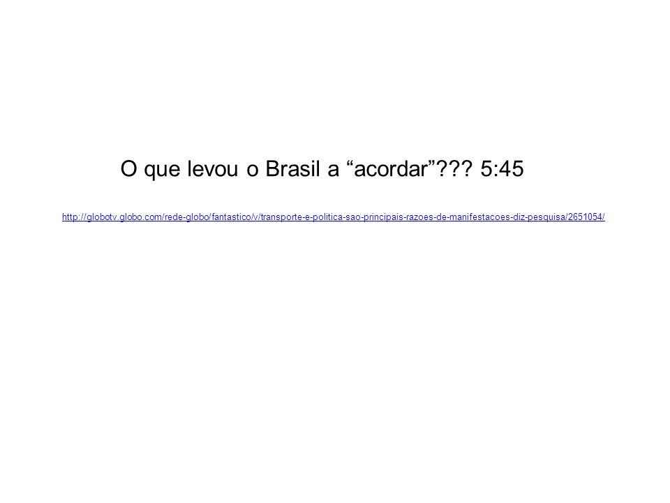 O que levou o Brasil a acordar 5:45