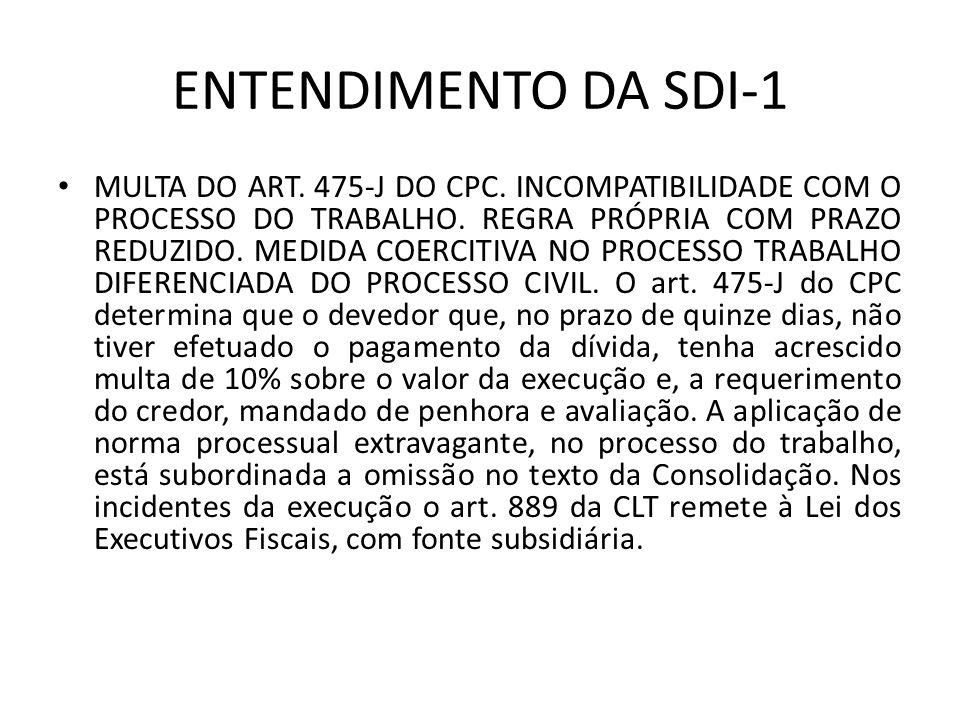 ENTENDIMENTO DA SDI-1