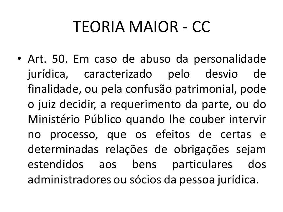 TEORIA MAIOR - CC