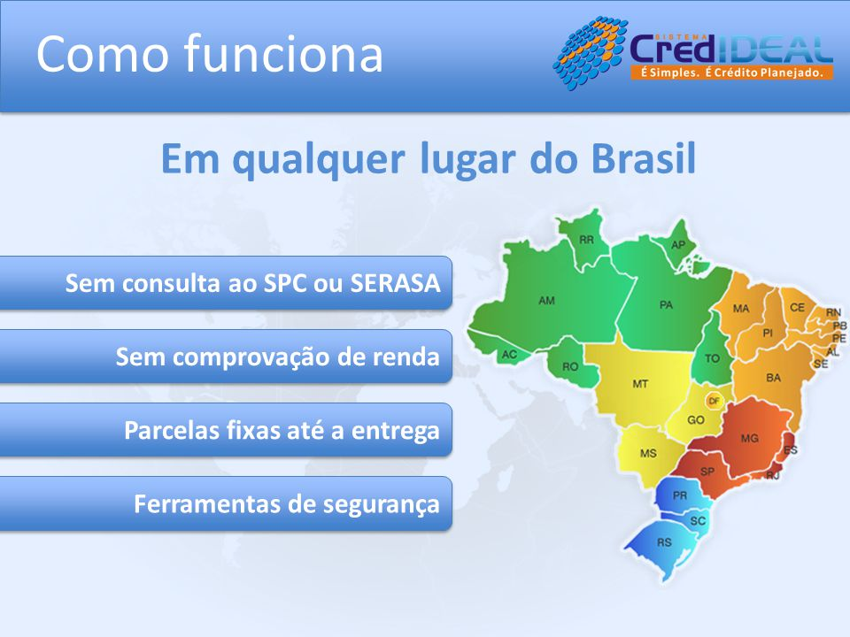 Como funciona Em qualquer lugar do Brasil