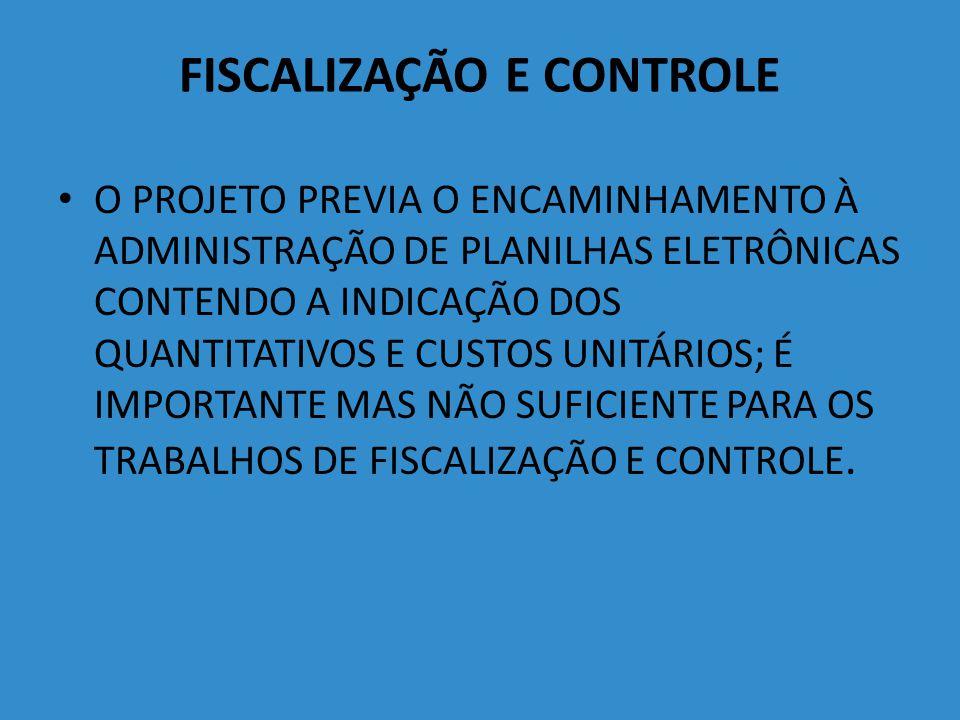 FISCALIZAÇÃO E CONTROLE