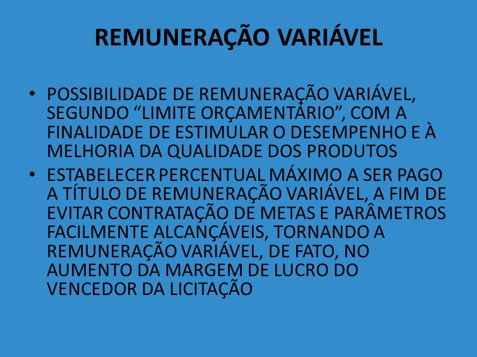 REMUNERAÇÃO VARIÁVEL