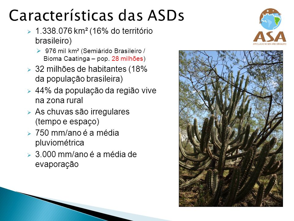 Características das ASDs