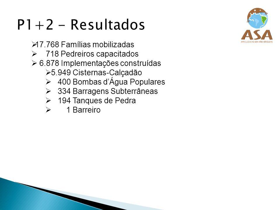 P1+2 - Resultados 17.768 Famílias mobilizadas