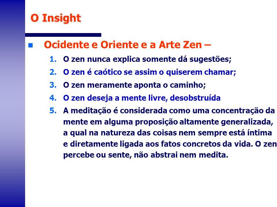 O Insight Ocidente e Oriente e a Arte Zen –