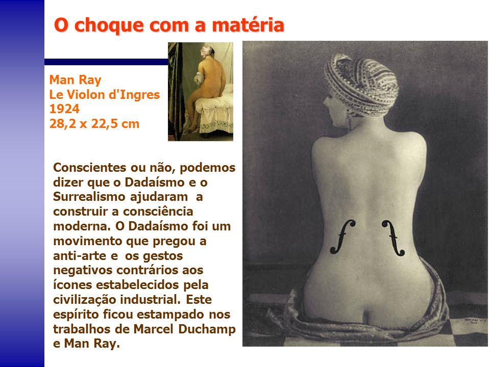 O choque com a matéria Man Ray Le Violon d Ingres 1924 28,2 x 22,5 cm