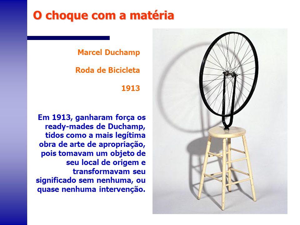 O choque com a matéria Marcel Duchamp Roda de Bicicleta 1913