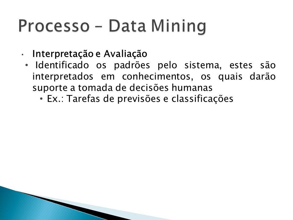 Processo – Data Mining Interpretação e Avaliação