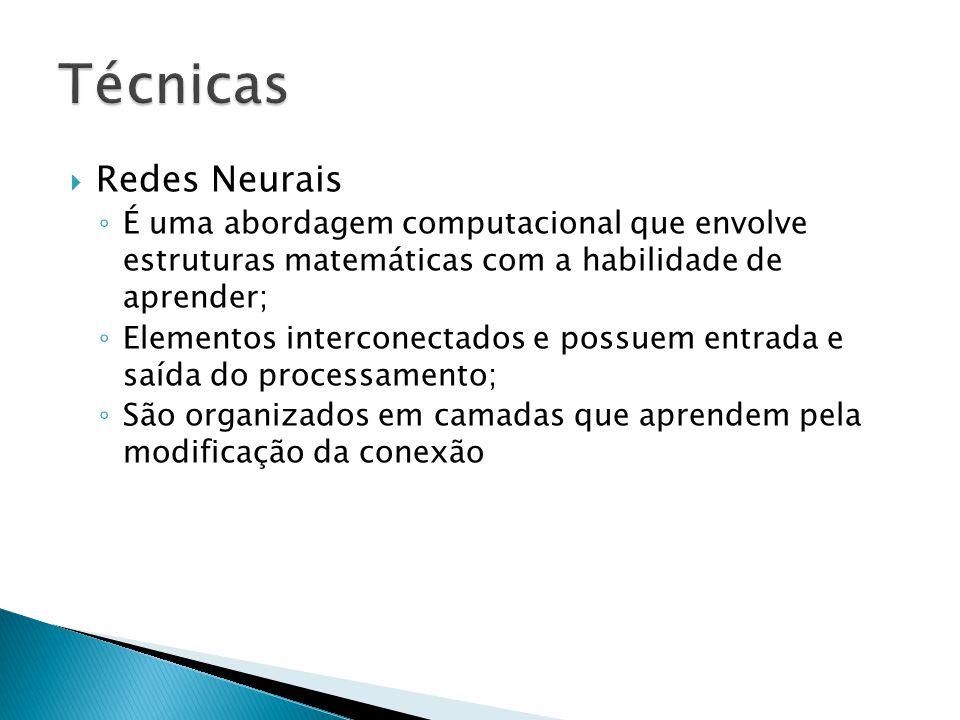 Técnicas Redes Neurais