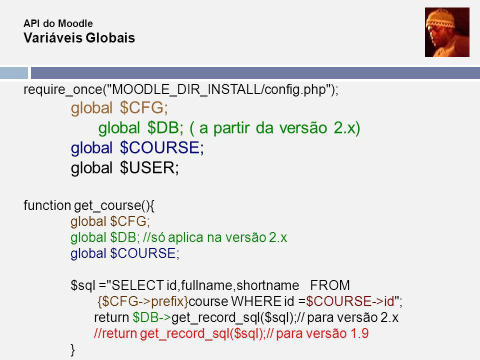 require_once( MOODLE_DIR_INSTALL/config.php ); global $CFG;