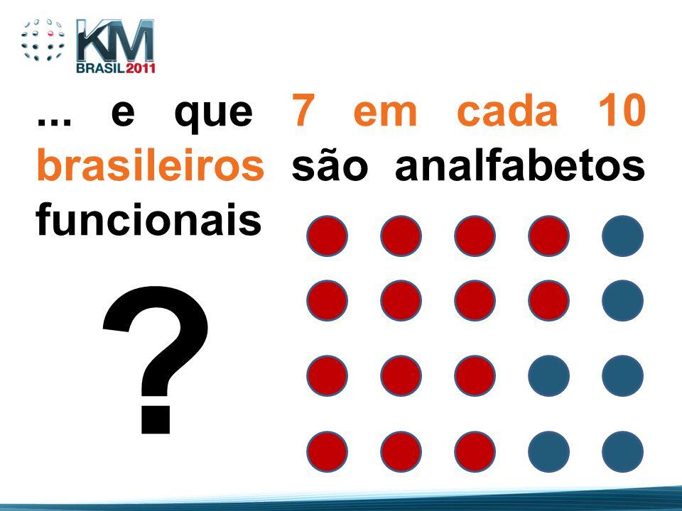 ... e que 7 em cada 10 brasileiros são analfabetos funcionais