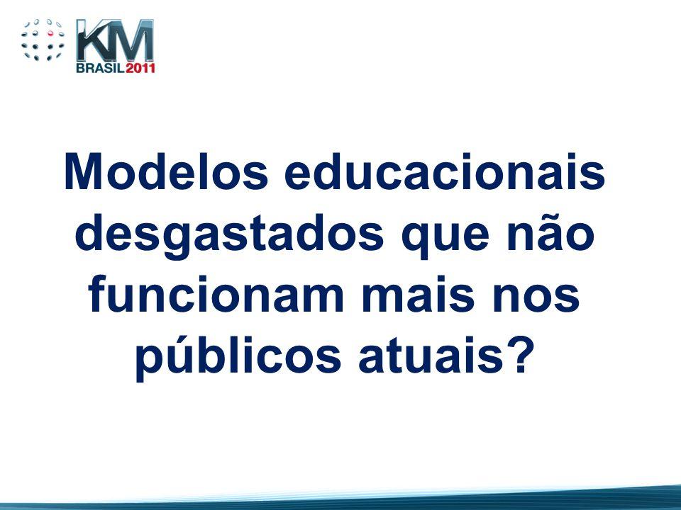 Modelos educacionais desgastados que não funcionam mais nos públicos atuais
