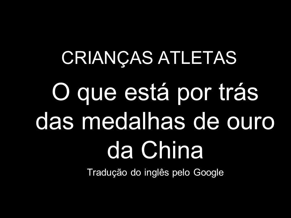 O que está por trás das medalhas de ouro da China