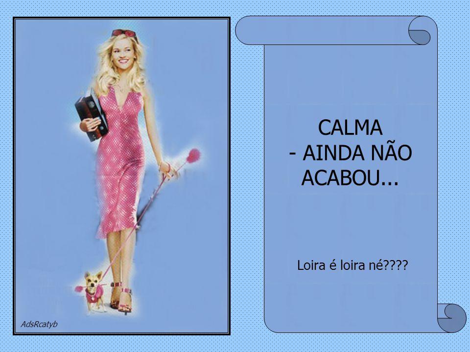 CALMA - AINDA NÃO ACABOU...