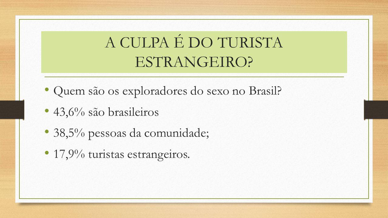 A CULPA É DO TURISTA ESTRANGEIRO