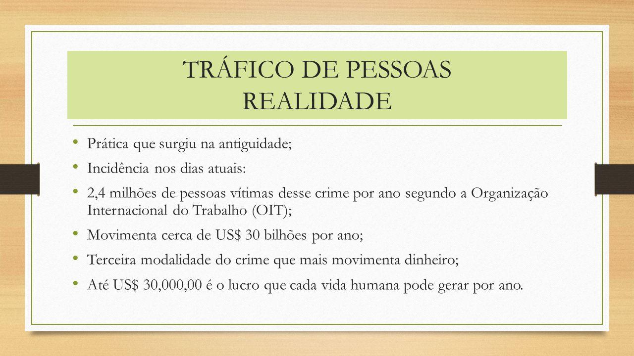TRÁFICO DE PESSOAS REALIDADE