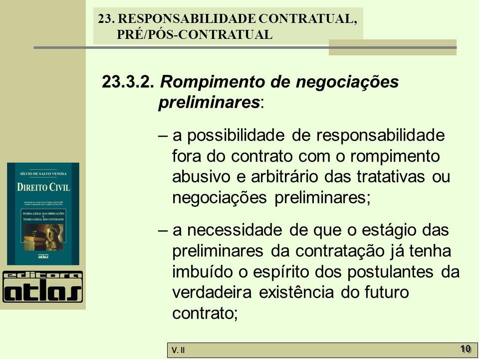 23.3.2. Rompimento de negociações preliminares: